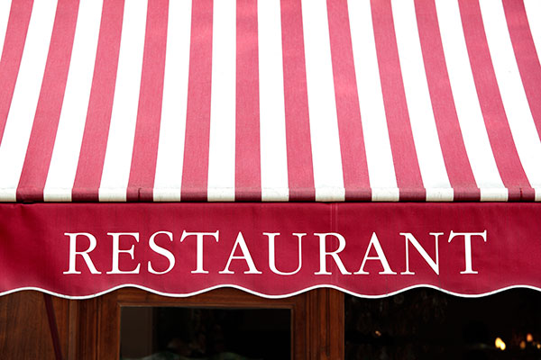 Restaurant awning signs in Vaughan, ON
