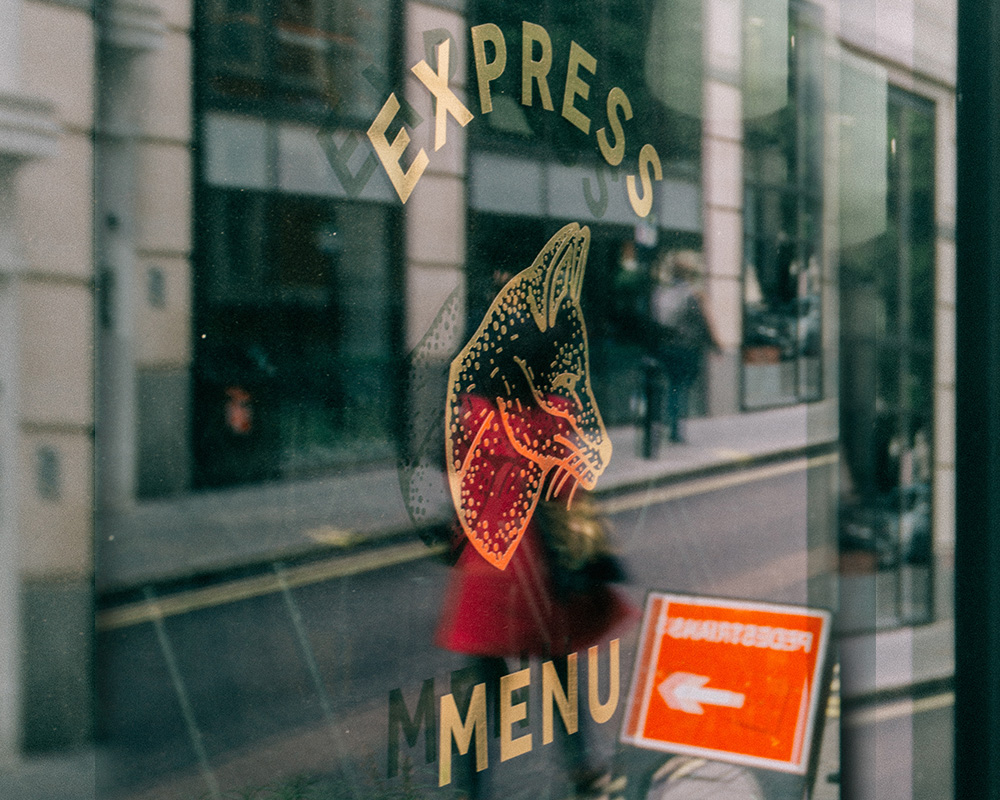 Engaging window graphics for business